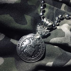 Jewelry - AIR FORCE medallion necklace!!